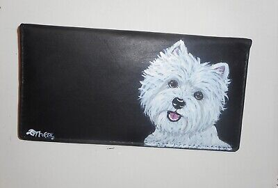 West Highland White Terrier dog Hand Painted Deluxe Checkbook Cover