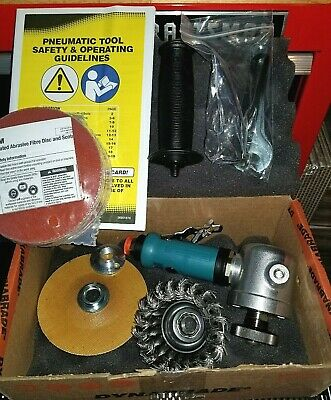 Dynabrade Right Angle Grinder, model# 52515, with 5 added items, all 3M.