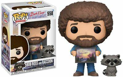 FUNKO POP! TELEVISION: BOB ROSS with RACCOON Pop! Vinyl Figure #558