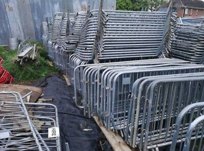 Used pedestrian barriers, crowdcontrol barrier,  temporary site fencing