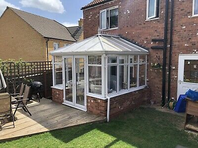 White Conservatory 3m X 3m. Great Condition
