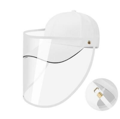 White Safety Face Shield Protective Hat Outdoor Baseball Cap Anti Spitting US