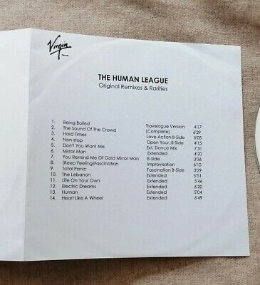 The Human League Original Remixes CD Promo