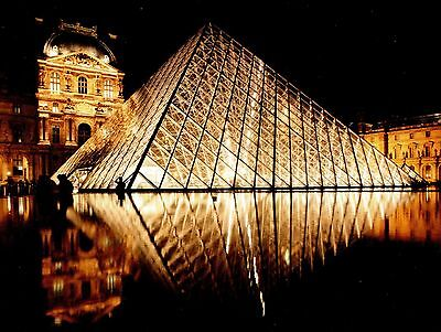 Post Card Of Louve Glass Pyramid In Paris