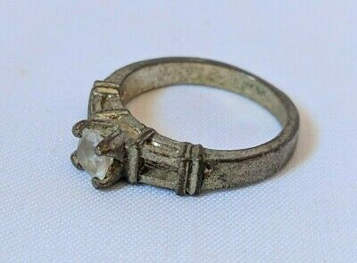 Ancient Vintage-Antique Berber Ring Metal Color Silver Old Stuning Rare Stone