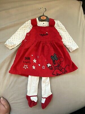 Disney Baby At George Girls Minnie Mouse Dress 3-6 Months