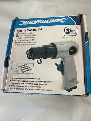 Silverline 5pc Air Compressor Hand Tool Hammer Chisel Set Rust Removal 394970
