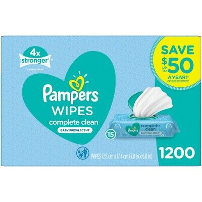 Pampers Scented Baby Wipes, Complete Clean (1200 ct.)