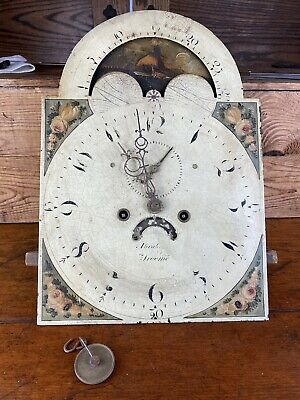 Antique Abraham Of Frome Case Clock Circa 1810 Movement 8 Day Chime