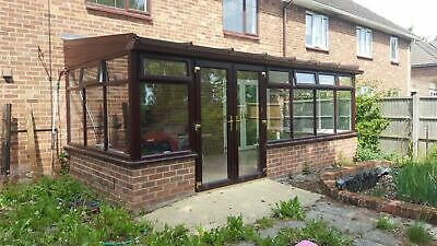 Lean-To Conservatory Rosewood Upvc Only 1 Year Old Uk Delivery