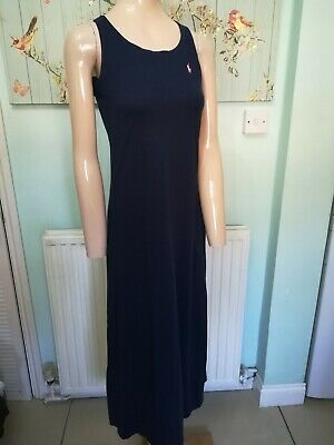 Polo Ralph Lauren Navy Blue Maxi Dress Size  12/14 Year Old's