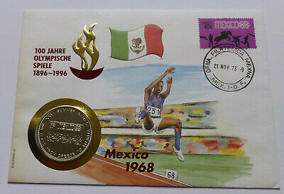 Uganda 1000 Shillings 1996, 100 years of Olympic Games 1896-1996, Mexico 1968