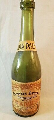 1893 to 1895 Walpole NH Mountain Spring Brewing Co India Pale Ale Beer Bottle NR