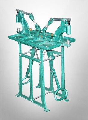 Two Station Grommet & Snap press Machine with Foot Press & Stand, twice as fast