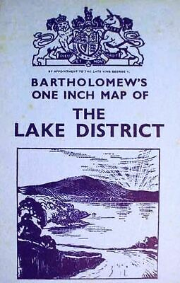 1930s__ENGLAND__POCKET__MAP__ __LAKE_DISTRICT_ __BARTHOLOMEW'S__ ONE_INCH_SERIES