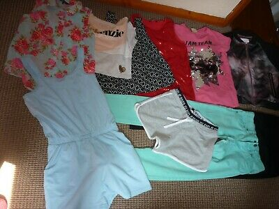 Bundle Girls Clothes age 11-12yrs McKenzie New Look  Shorts Tops Jacket Jeans