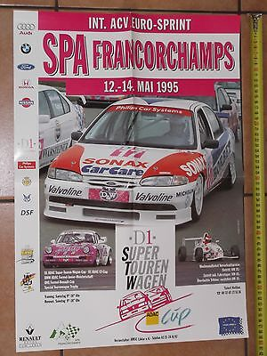 Poster 1995 ACV Euro Sprint Spa Francorchamps STW Ford Mondeo Asch Affiche