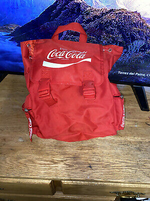 Coca Cola Red Fashion Backpack W/ Numerous Pockets