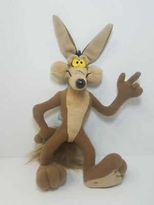 """Vintage 1994 Wile E. Coyote 12"""" Tyco Plush Toy Stuffed Doll Looney Tunes Rare"""