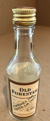Old Forester Bourbon Mini Glass Bottle EXPRESSLY FOR UNITED AIRLINES
