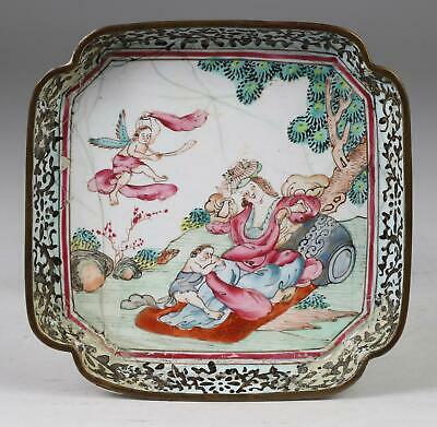 Qianlong Period  Enamel 'European Subject'  Dish