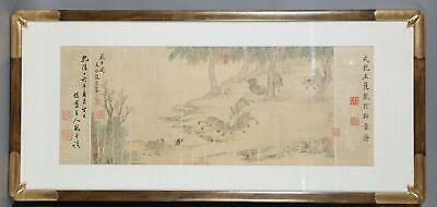 Chinese Painting on Silk of Ox Chao Yung