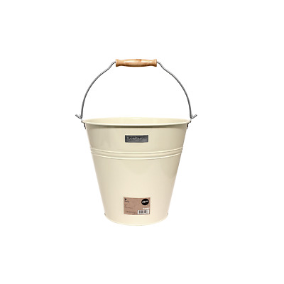 Charles Bentley Heritage Housekeepers Retro Galvanised Bucket in Cream - 12L