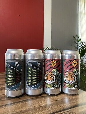 "Monkish Brewing,Jfk2Lax, 4 ""Empty"" Cans, Trillium, Tree House, Other Half"