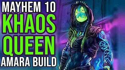 Borderlands 3 Khaos Queen Build (Xbox One) (9 Items) (Moxsy) Mayhem 10 Updated