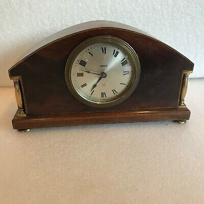inlaid mahogany cased mantle clock