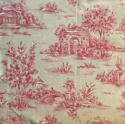 CHARMING VINTAGE FRENCH COTTON TOILE DE JOUY c1980s, REF PROJECTS 62