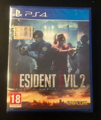 RESIDENT EVIL 2 PS4 Pal ITA COPERTINA ITALIANA Horror RE RE2 Remake Sony Capcom