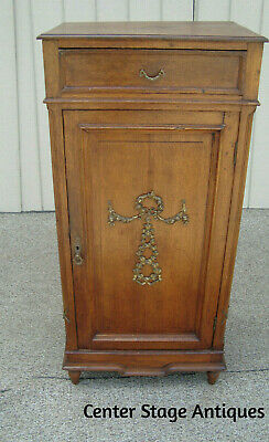 00001 Oak Sheet Music Storage Cabinet Chest Nightstand Table Stand  RARE FIND