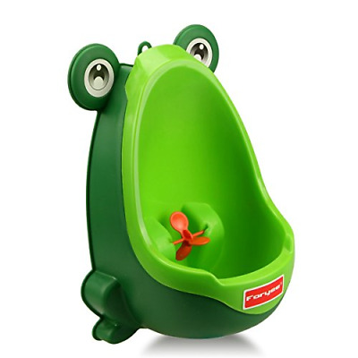 Cute Frog Potty Training Urinal for Boys with Funny Aiming Target Blackish Green