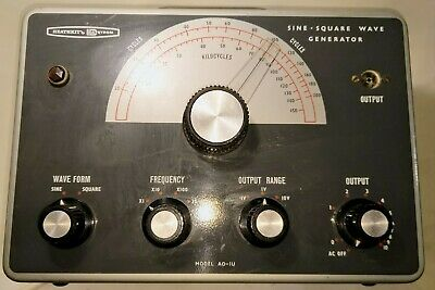 AF Signal Generator - Heathkit AO-1U ham radio valve tube test gear  some square