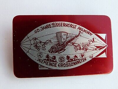 German Badge,Zeppelin, 60 years of the airbase at Ahlhorn   (404)