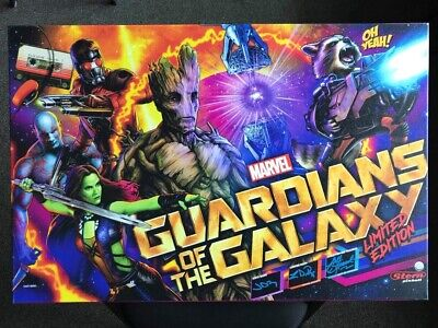 Guardians of the Galaxy LE Pinball Custom Canvas Print/ Signed by Design Team