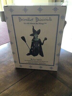 NEW ! December Diamonds WICKED Witch of Oz Halloween Mermaid Ornament 2020 coven