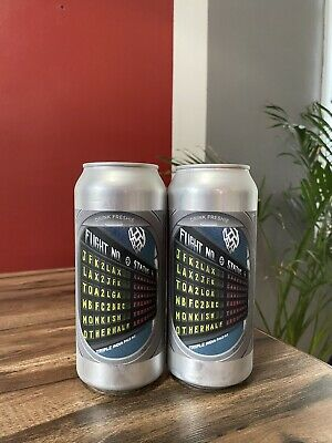 "Monkish Brewing, Jfk2Lax, 2 ""Empty"" Cans, Trillium, Tree House, Other Half"