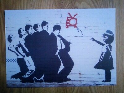 Madness Banksy Style Picture Repro/Reprint A4 Print *RARE*