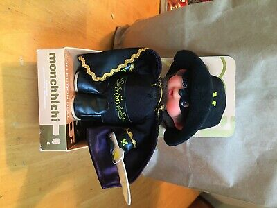Monchhichi Mask Of Zorro collection doll with 2 keychain dolls
