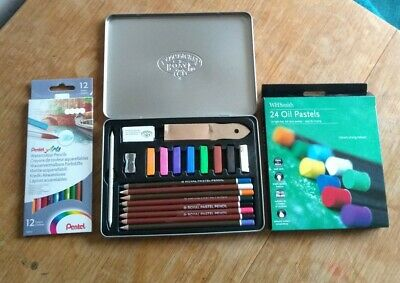 Artist Pastels Oil Pastels Water Colour Pencils New/Used Joblot