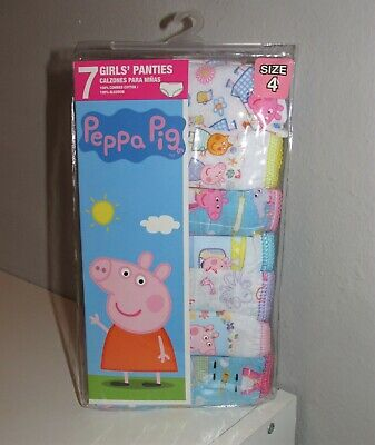 Girls 7 PACK Peppa Pig Cotton Panties (Size 4) BRAND NEW IN PACKAGE