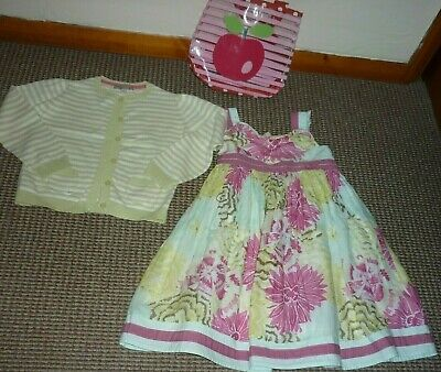 Marks and Spencer Girls Pretty Summer Dress with Cardigan and Bag age 5-6 yrs