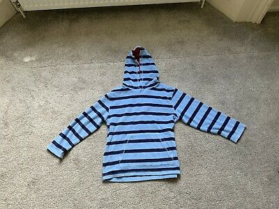 Mini Boden Boys Striped Towelling Hoodie 9-10 Yrs FAB