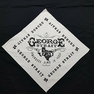 Vintage George Strait Bandana Somewhere Down In Texas Country Music Legend