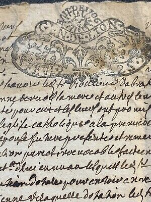 OLD DOCUMENT 1700s