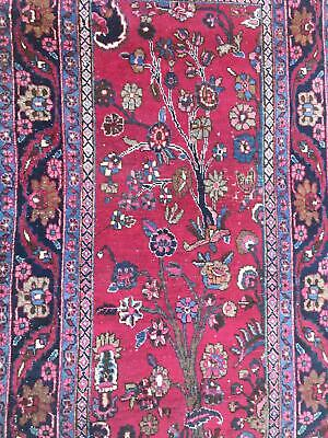 A DECORATIVE OLD HANDMADE TRADITIONAL ORIENTAL RUG (160 x 90 cm)