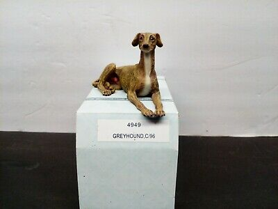 Greyhound Dog Adult Male Hand Painted Figurine New Boxed Free Shipping