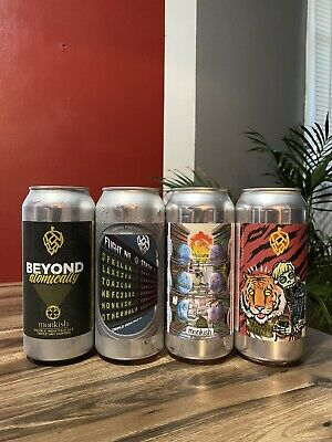 "Monkish Brewing, Mixed, 4 ""Empty"" Cans, Trillium, Tree House, Other Half"